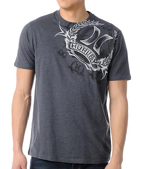 Hurley Wreath Charcoal Grey T-Shirt