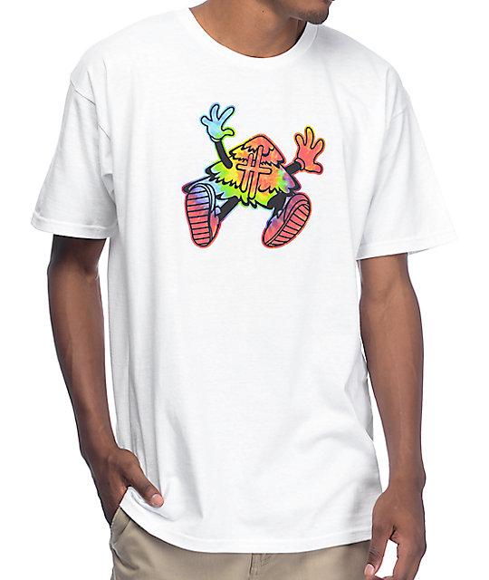 Hustle Trees Hippie Flip White T-Shirt