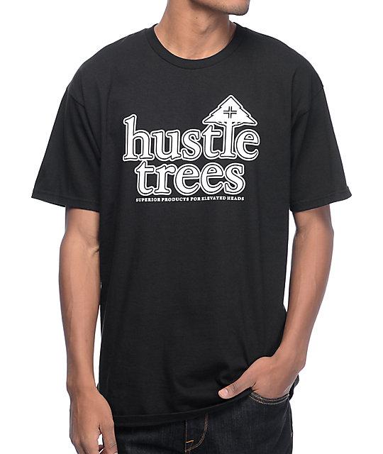 Hustle Trees OG Logo Black T-Shirt