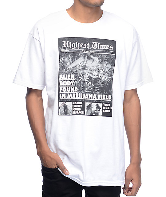 Hustle Trees Tabloid White T-Shirt