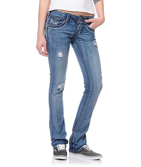 Hydraulic Addison Indigo Micro Bootcut Jeans