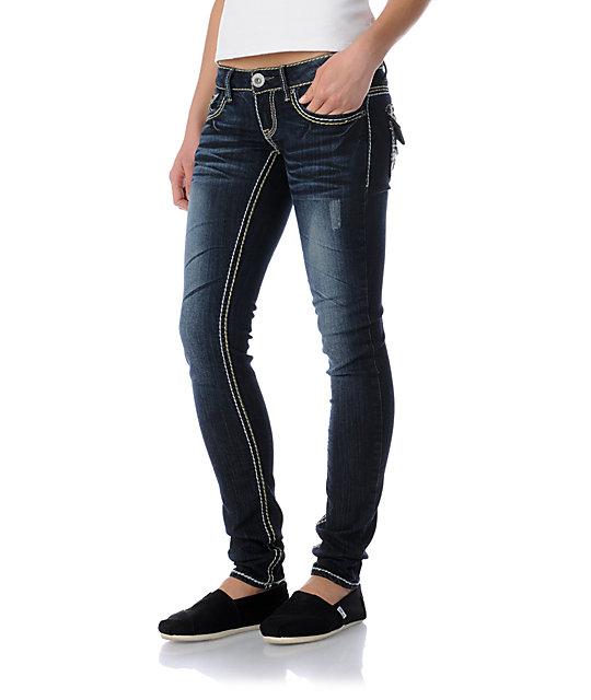 Hydraulic Hilary Dark Wash Super Skinny Jeans