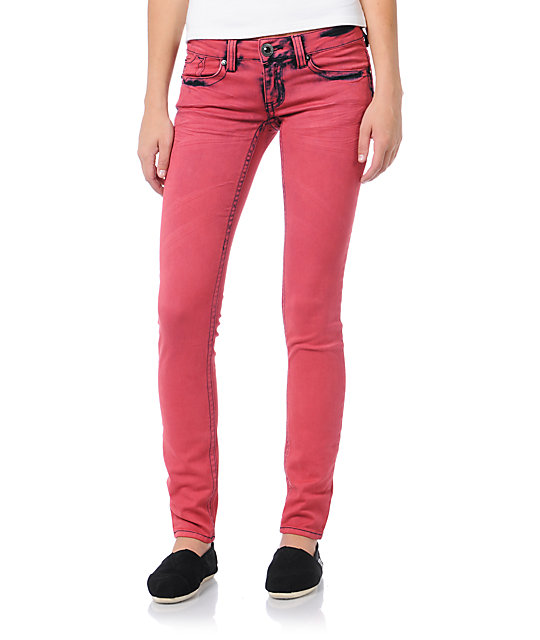 Hydraulic Indie Strawberry Red Jeggings