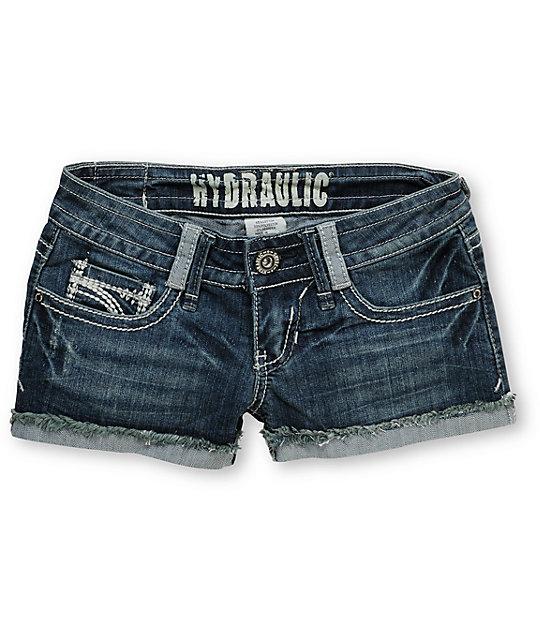 Hydraulic Jody Distressed Denim Shorts