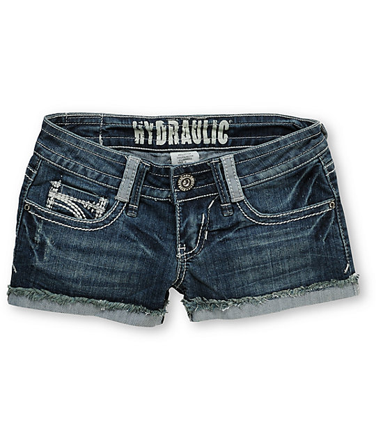 Hydraulic Jody Distressed Denim Shorts
