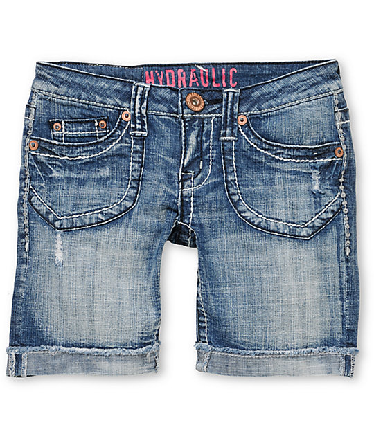 Hydraulic Michelle Cuffed Cut Off Denim Shorts