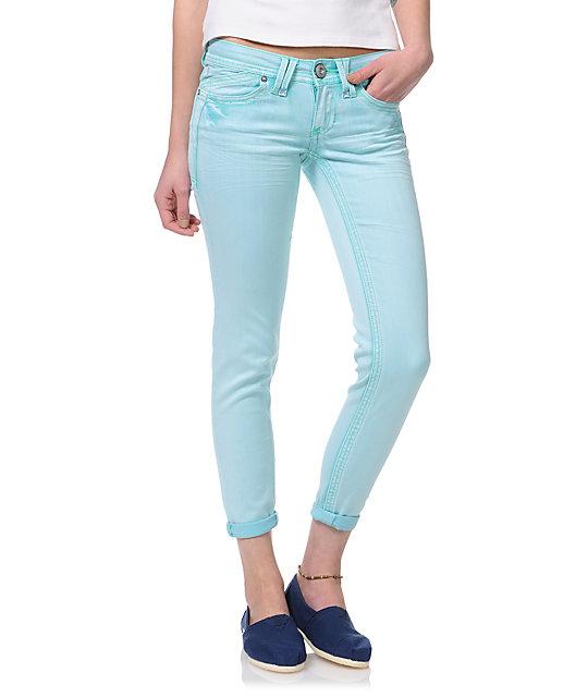 Hydraulic Seafoam Ankle Cropped Jeans