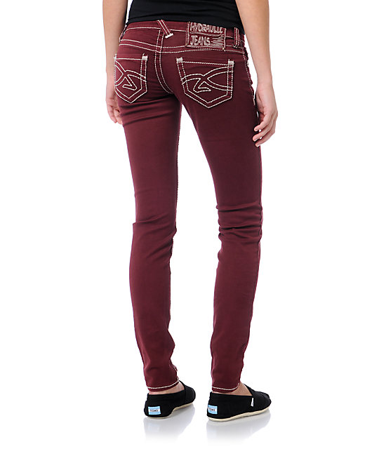 Hydraulic Ultra Cranberry Red Jeggings
