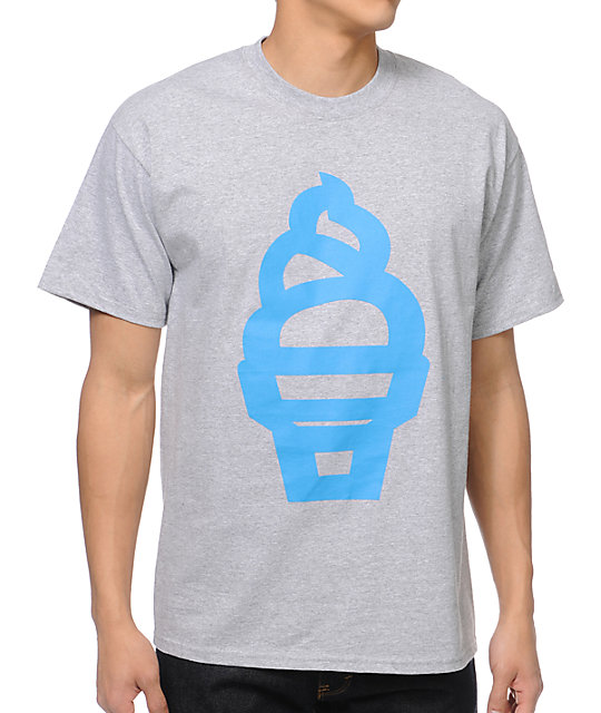 ICECREAM Cartoon Cone Heather Grey T-Shirt