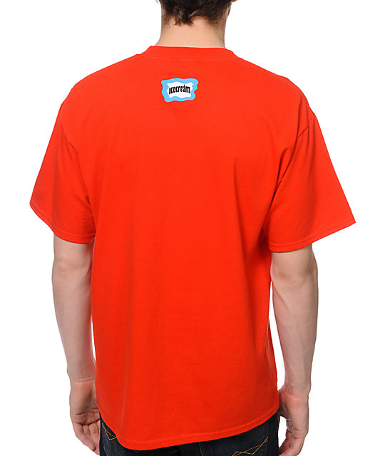 ICECREAM Classic Repeat Red T-Shirt