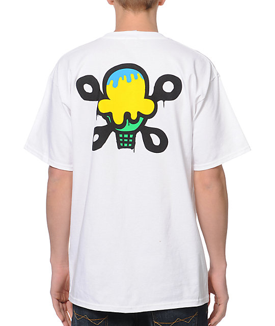 ICECREAM Drip White T-Shirt