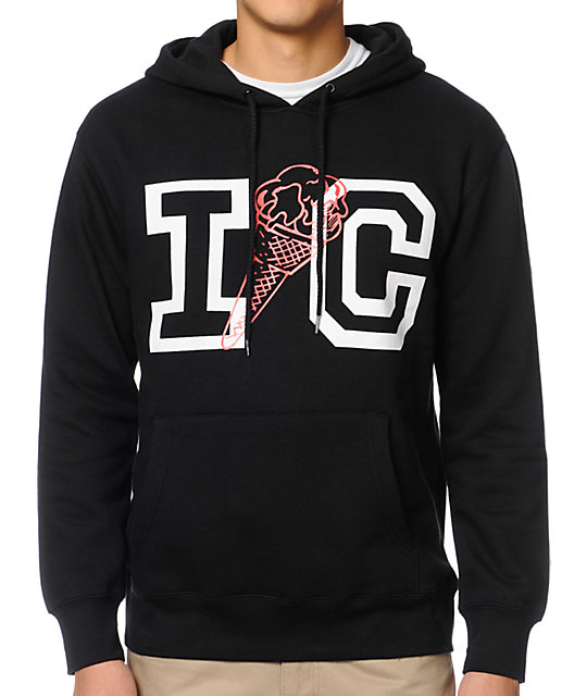 ICECREAM IC Black Pullover Hoodie