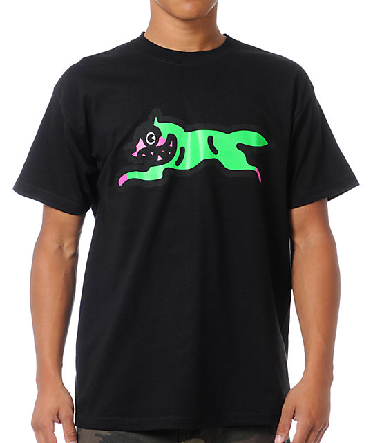 ICECREAM Running Dog 2 Black T-Shirt