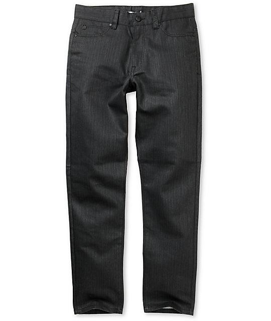 IMKing Fontana Black Waxed Regular Fit Jeans