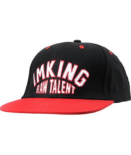 IMKing Raw Talent Black & Red Snapback Hat