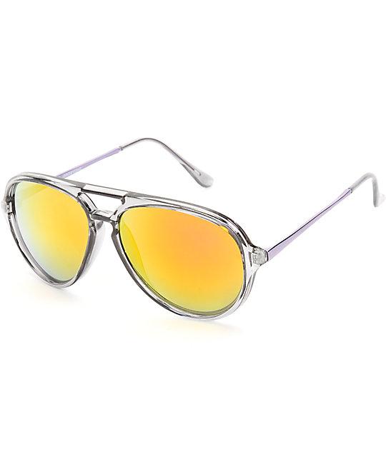 Ian Crystal Revo Aviator Sunglasses