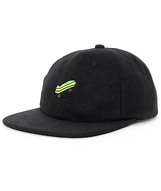 Illegal Civilization Sk8 Black Strapback Hat