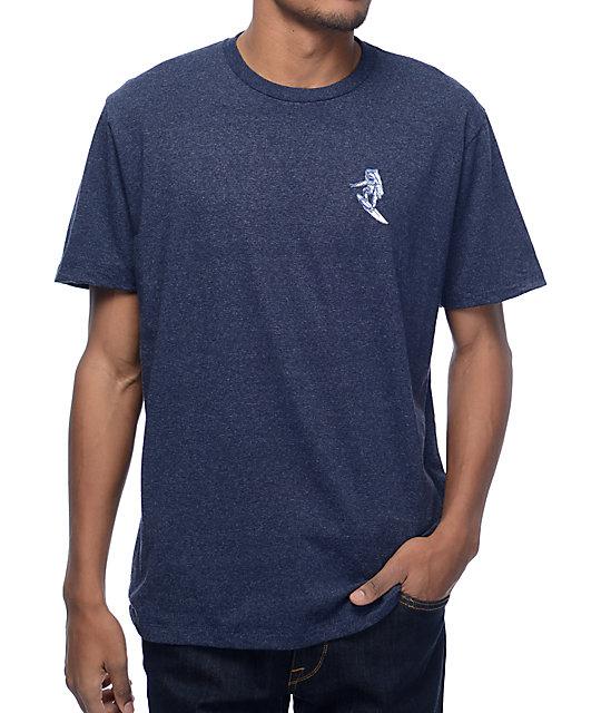 Imaginary Foundation Astro Surfer Navy T-Shirt
