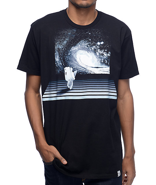 Imaginary Foundation Astro Wave Black T-Shirt