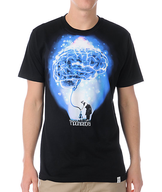 Imaginary Foundation Brain Power Black T-Shirt