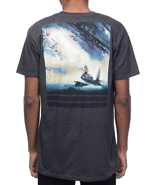 Imaginary Foundation Cosmic Ocean Charcoal T-Shirt