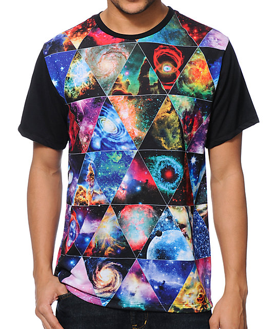 Imaginary foundation equilateral panel black sublimation t for All over dye sublimation t shirt printing