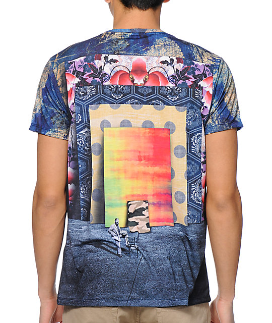 Imaginary Foundation Frames Navy Sublimated T-Shirt