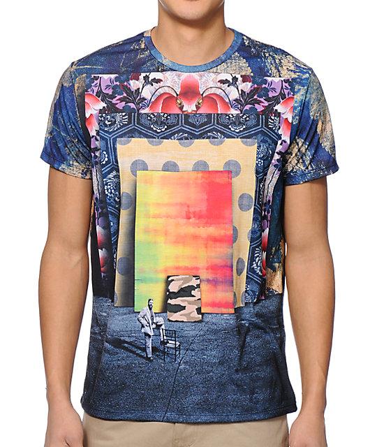 Imaginary Foundation Frames Navy Sublimated T-Shirt