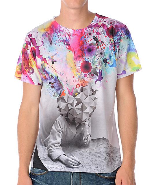 Imaginary Foundation Mens Study White T-Shirt