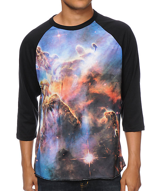 Imaginary Foundation Nebula Sublimated Baseball T-Shirt