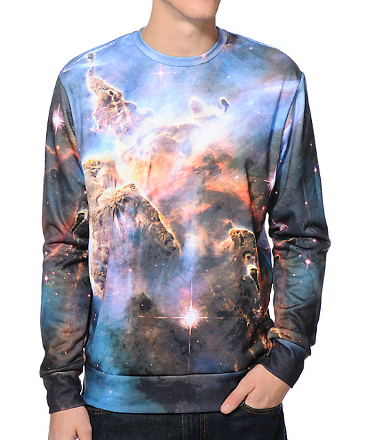 Imaginary Foundation Nebula Sublimated Crew Neck Sweatshirt
