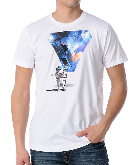 Imaginary Foundation Next DiMension White T-Shirt