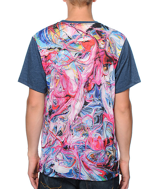 Imaginary Foundation Pigment Panel Sublimated Navy T-Shirt