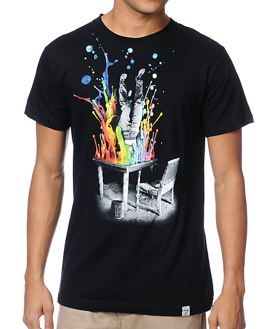 Imaginary Foundation Plunge Black T-Shirt