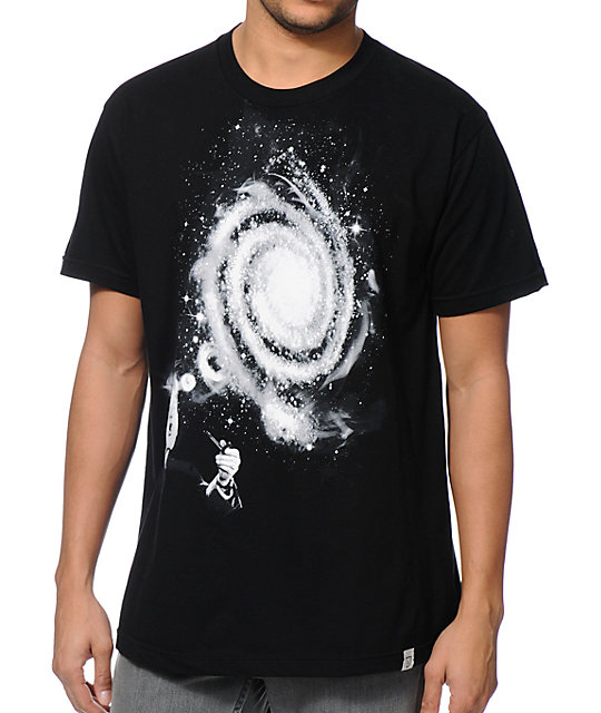 Imaginary Foundation Smoke Rings Black T-Shirt