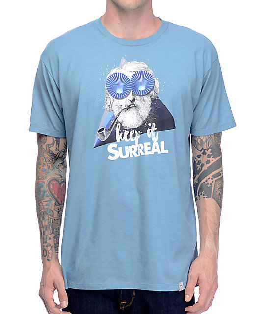 Imaginary Foundation Surreal Harbor Blue T-Shirt