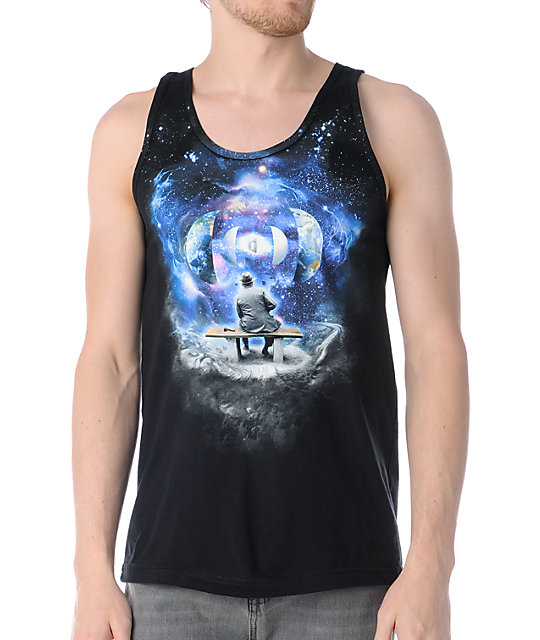 Imaginary Foundation Unfolding Black Tank Top