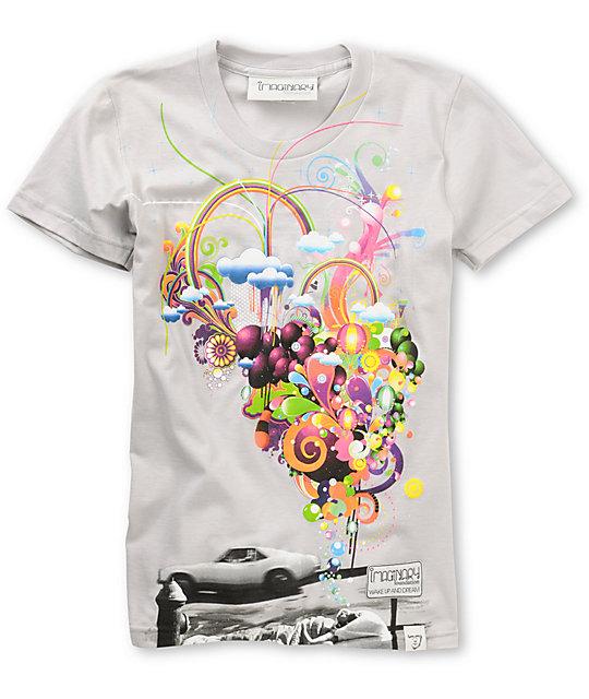 Imaginary Foundation Wake Up & Dream Silver T-Shirt