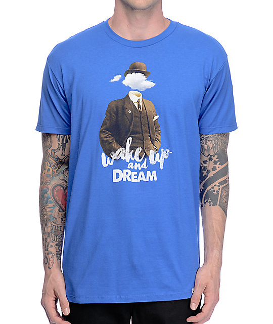 Imaginary Foundation Wake Up Royal Blue T-Shirt