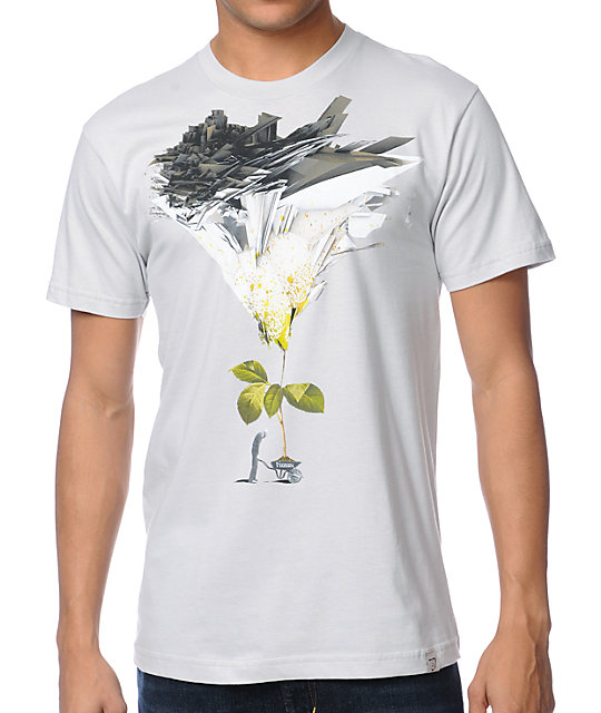 Imaginary Foundation Wheel Barrow Silver T-Shirt