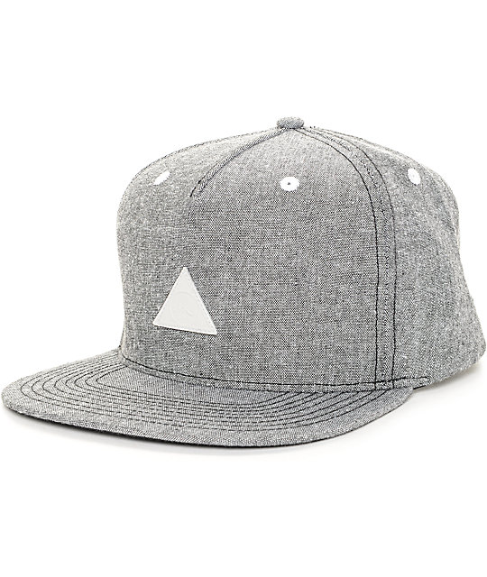 Imperial Motion Angle Black Oxford Snapback Hat