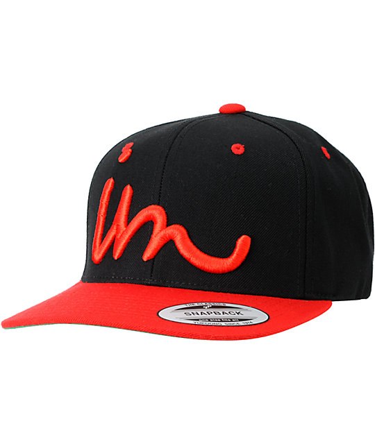 Imperial Motion Curser Black & Red Snapback Hat