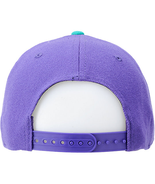 Imperial Motion Curser Purple & Teal Snapback Hat