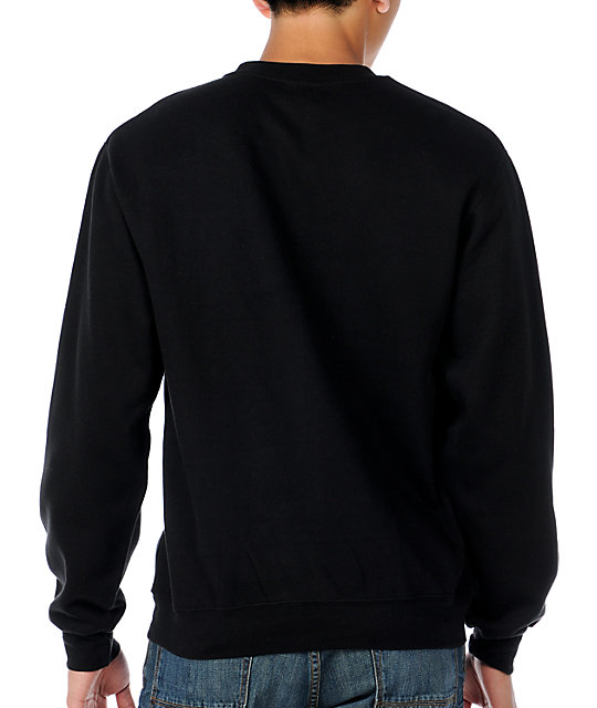 Imperial Motion Cut & Paste Black Pullover Sweatshirt