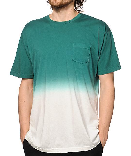 Imperial motion dip dye pocket t shirt for Mens dip dye shirt