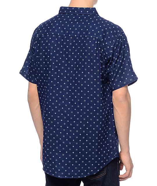 Imperial Motion Doubles Navy Woven Button Up Shirt