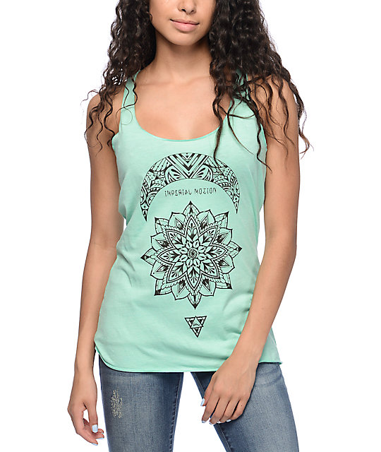 Imperial Motion Half Moon Dusty Turquoise Tank Top