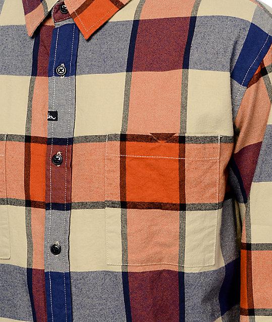 Imperial Motion Hanson Orange Flannel Shirt