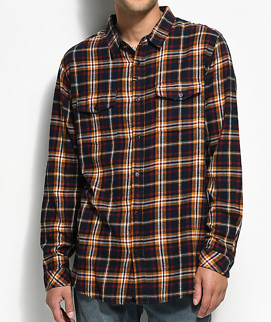 Imperial Motion Henderson Navy & Yellow Flannel Shirt