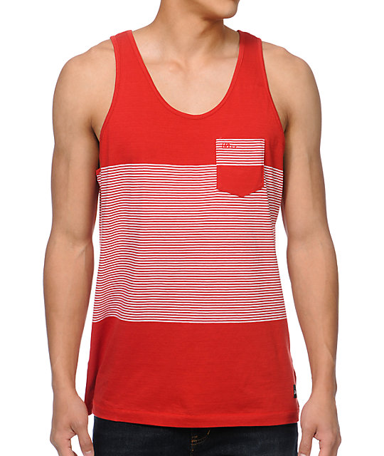 Imperial Motion Intersect Red Stripe Tank Top